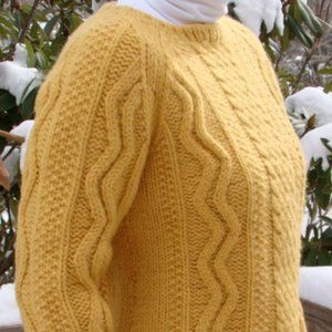 60's Cable Knit Sweater Vintage